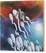 Medical Nanorobot On Sperm Cell Wood Print