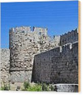 Medieval Fortress Of Rhodes. Wood Print