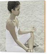 Meditation Wood Print by Joana Kruse