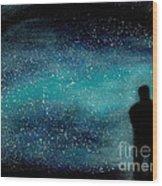 Meditation Under The Stars Wood Print by NARI - Mother Earth Spirit