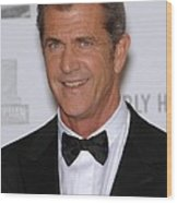 Mel Gibson In Attendance For 25th Wood Print by Everett