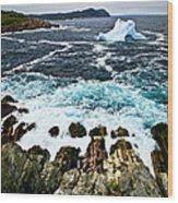Melting Iceberg Wood Print