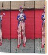 Mermaid Parade Collage 2011 Coney Island Wood Print