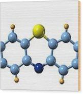 Methylene Blue, Molecular Model Wood Print