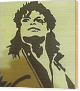 Michael Jackson Wood Print by Damian Howell