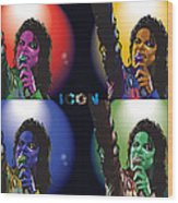 Michael Jackson Icon4 Wood Print