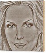 Michelle Pfeiffer In 2010 Wood Print by J McCombie