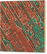 Microchip Circuitry, Sem Wood Print by Power And Syred