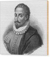 Miguel De Cervantes, Spanish Author Wood Print