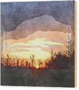Mild Morning II Wood Print