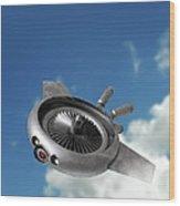 Military Drone, Conceptual Artwork Wood Print