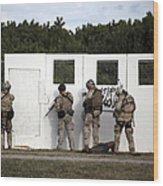 Military Reserve Members Prepare Wood Print by Michael Wood