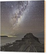 Milky Way Over Cape Schanck, Australia Wood Print