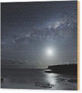 Milky Way Over Mornington Peninsula Wood Print by Alex Cherney, Terrastro.com