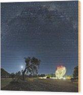 Milky Way Over Parkes Observatory Wood Print by Alex Cherney, Terrastro.com