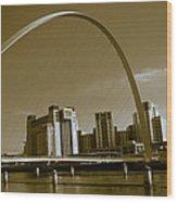 Millenium Bridge Wood Print