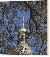 Minaret Through Oak Wood Print