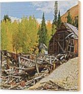 Mining Ruins Wood Print