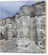 Minoan Eruption Deposits, Mavromatis Wood Print