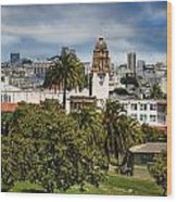 Mission Dolores Park Wood Print