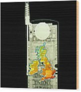 Mobile Phone X-ray Wood Print