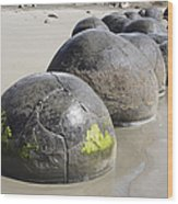 Moeraki Boulders, Koekohe Beach, New Wood Print