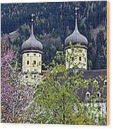 Monastery In Tyrol Wood Print
