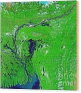 Monsoon Floods Wood Print by NASA / Science Source