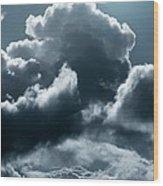 Moonlit Clouds Wood Print by Detlev Van Ravenswaay