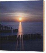 Moonrise Wood Print by Cale Best