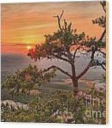 Moore's Knob Sunset Wood Print