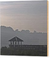 Morning Fog Wood Print by Farol Tomson