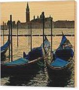 Morning In Venice Wood Print