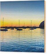 Morro Bay Sunset Wood Print