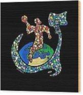 Mosaic Ballin Wood Print