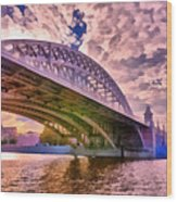 Moscow's Bridges Wood Print