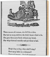 Mother Goose, 1833 Wood Print by Granger