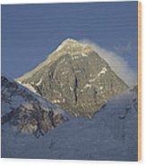 Mount Everest Standing At 29,028 Feet Wood Print