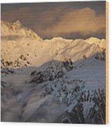 Mount Rolleston At Dawn Arthurs Pass Np Wood Print