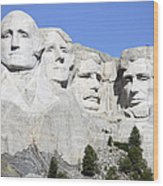 Mount Rushmore National Memorial, South Wood Print