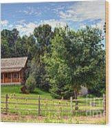 Mountain Cabin - Rural Idaho Wood Print