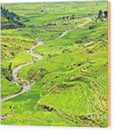 Mountain River Wood Print