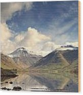 Mountains And Lake At Lake District Wood Print
