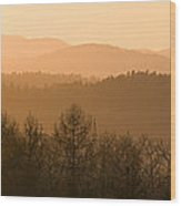 Mountains On Fire Wood Print