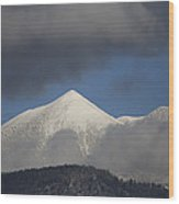 Mt Humphreys Covered In Snow Wood Print