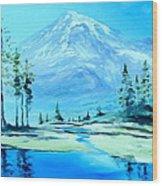 Mt. Rainier Wood Print by Stefon Marc Brown