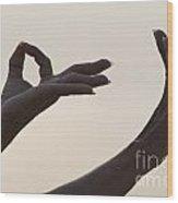 Mudra Hand Gesture Wood Print