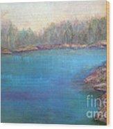 Muskoka Shore Wood Print