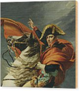Napoleon Crossing The Alps On 20th May 1800 Wood Print