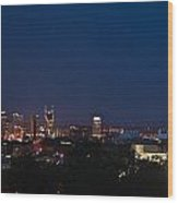 Nashville By Night Wood Print